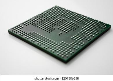 Close up of Semiconductor BGA IC