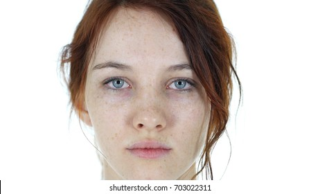 Close Up of Serious Woman