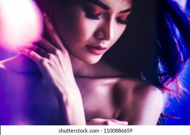 close up of sexy women dancing in club