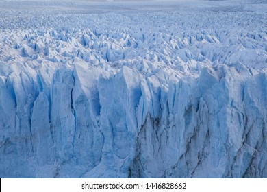 Close up of shapes and forms of the glacier Perito Moreno in Argentina