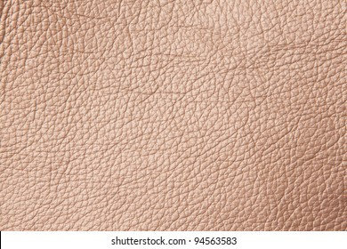Close up shiny brown leather pattern
