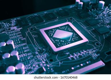 close shoot of circuit board PVC 5G technology