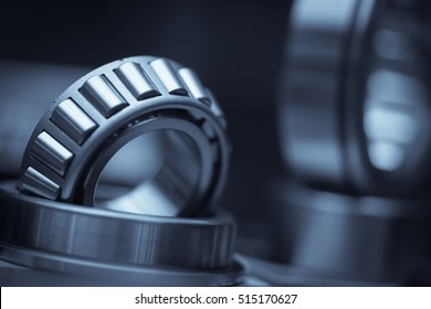 Close up shot of a ball bearing.