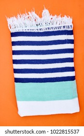 A close up shot of a beach towel