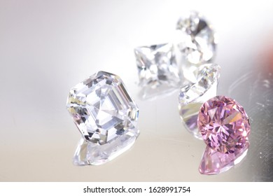 Close up shot of beautiful color diamond beads for jewelry