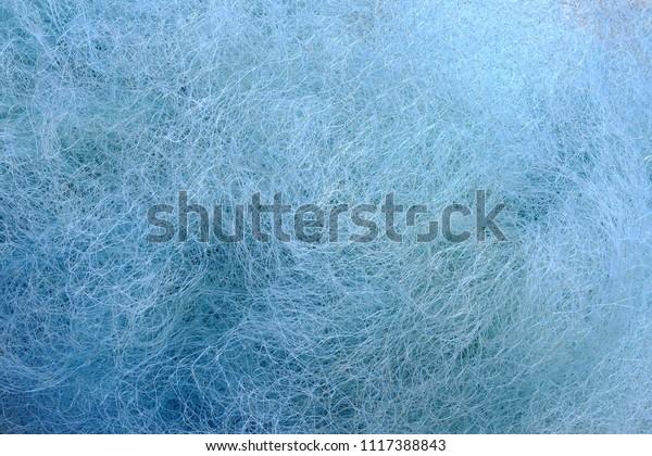 Close up shot of blue fishing net