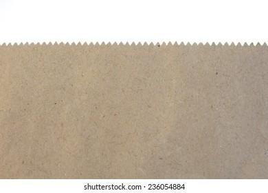 A close up shot of a brown paper bag