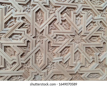 Close up shot of carved wood ornaments
