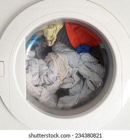 A close up shot of a clothes dryer