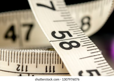 Close up shot of clothing Measuring Tape