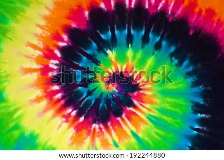 44349cbf39de Close Shot Colorful Tie Dye Fabric Stock Photo (Edit Now) 192244880 ...