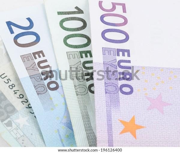 close up shot of Euro banknote