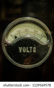 close up shot of face of a volt meter