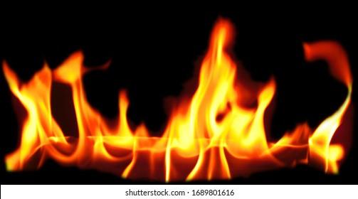 A close up shot of a fire