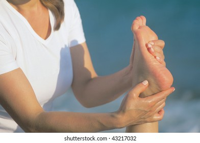 close up shot of a foot massage