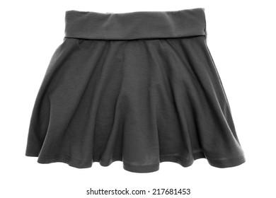 A close up shot of girls skirt
