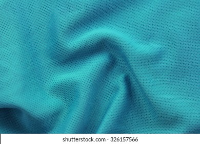 Close up shot of green textured football jersey
