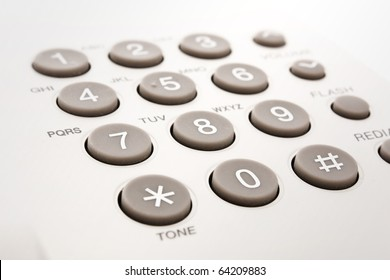 close up shot of grey phone keypad