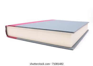Up close shot of a hardcover book