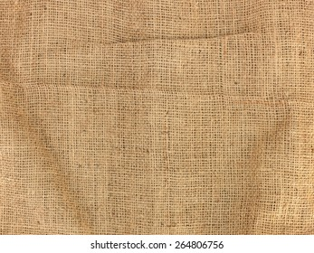 A close up shot of a hessian bag