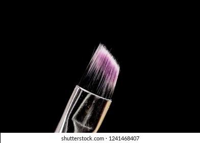 Close up shot of a make up brush