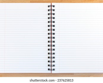 A close up shot of a note book