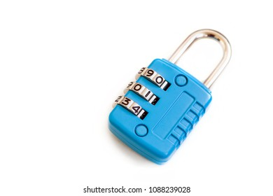 Close up shot of a padlock with numbers.
