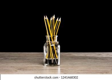 Close up shot of a pencil pot