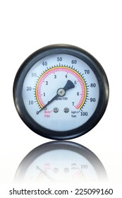 A close up shot of a pressure gauge