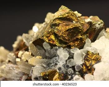 Close up shot of a pyrite