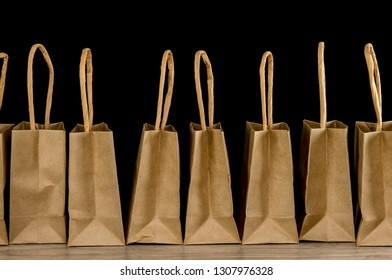 Close up shot of shopping bags