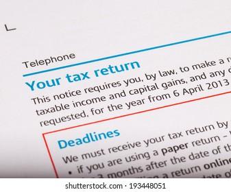 close up shot of a tax return