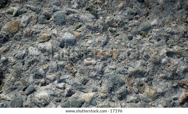 Close up shot of the texture in a concrete wall