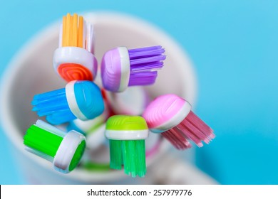close up shot of toothbrush / toothbrush