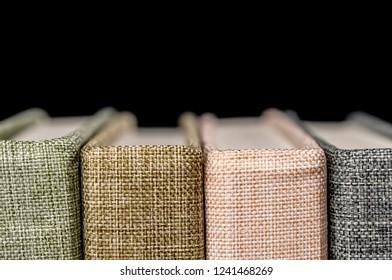 Close up shot of vintage books