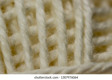 Close up shot of white thread