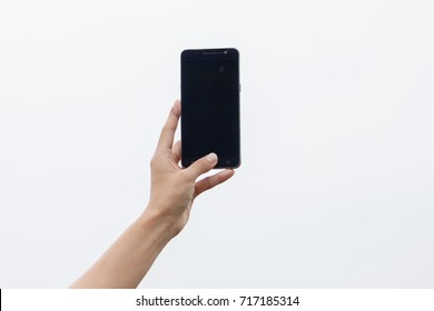 Close Up shot of a woman typing on phone.