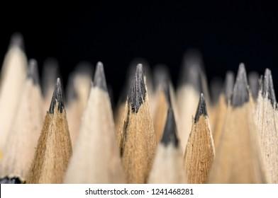 Close up shot of writing pencils
