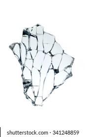 Close up shots of a broken glass