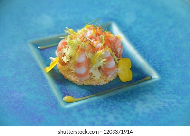 Close up of Shrimp dessert