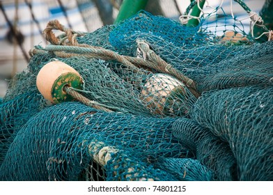 Close Up of the Shrimping Nets Used by Fishermen
