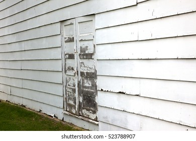 Close up of the side of a building.