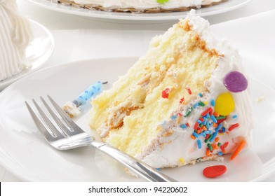 Close up of a slice of cake