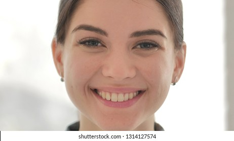 Close up of Smiling Face of Beautiful Girl