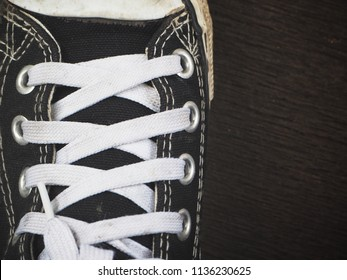 Close up of sneakers
