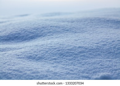 A close up of snow