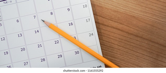 close up soft focus on pen over calendar 2018 at office desk with top view concept