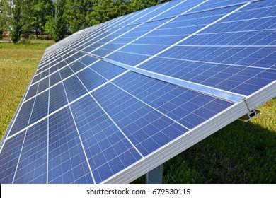 Close up of solar energy panels.
