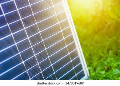 Close up solar panel background. energy concept.