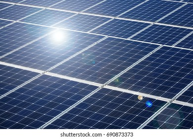 close up of the solar panels